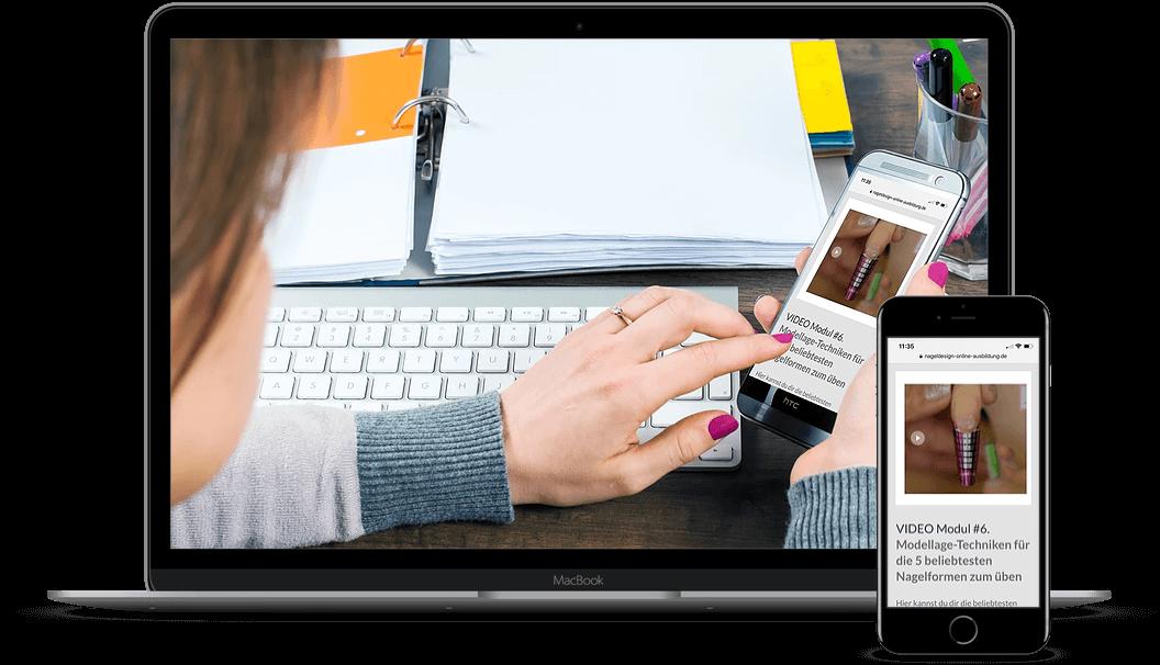Nageldesign Online Ausbildung Telefonunterstützung